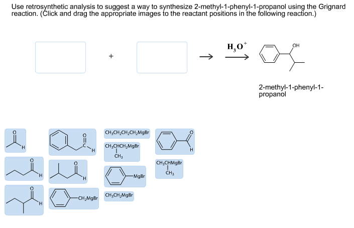 Use retrosynthetic analysis to suggest a way to sy