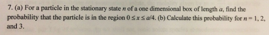 For a particle in the stationary state n of a one