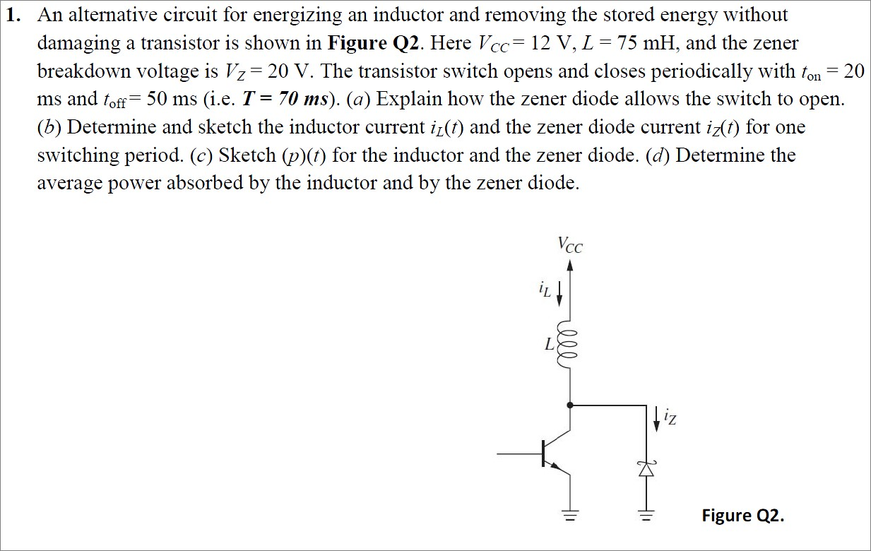 An alternative circuit for energizing an inductor