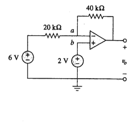 Determine v0 in the op amp shown