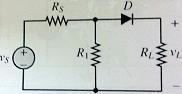 Find the load VL, and the state of the diode, Vr=.