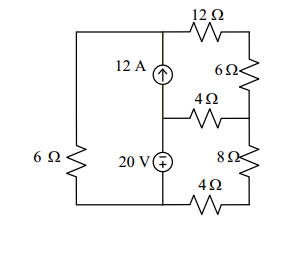 Find the power dissipated in the 12 ? resistor usi