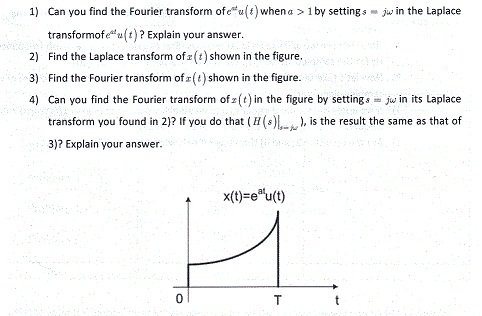 Can you find the Fourier transform of each u (t)w