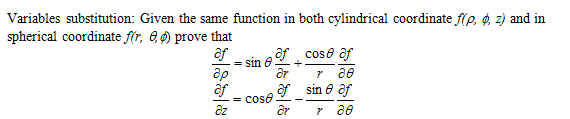 Variables substitution: Given the same function in