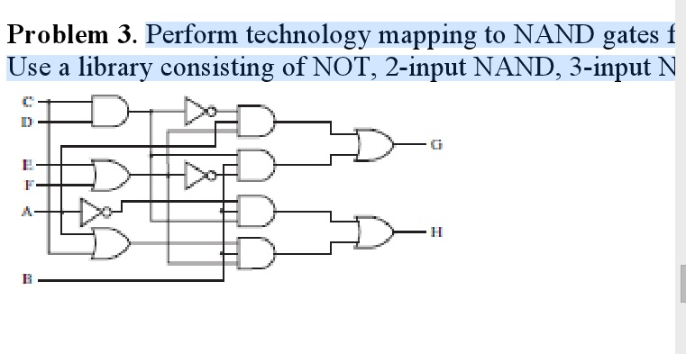 Perform technology mapping to NAND gates