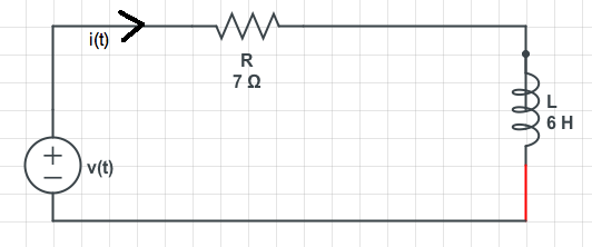 Consider the following R-L Circuit. Assume v(t) =