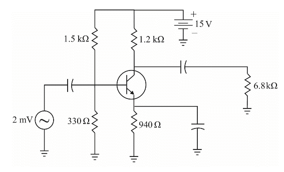 Image for What is the ac resistance of the emitter diode in Fig. 9-26?