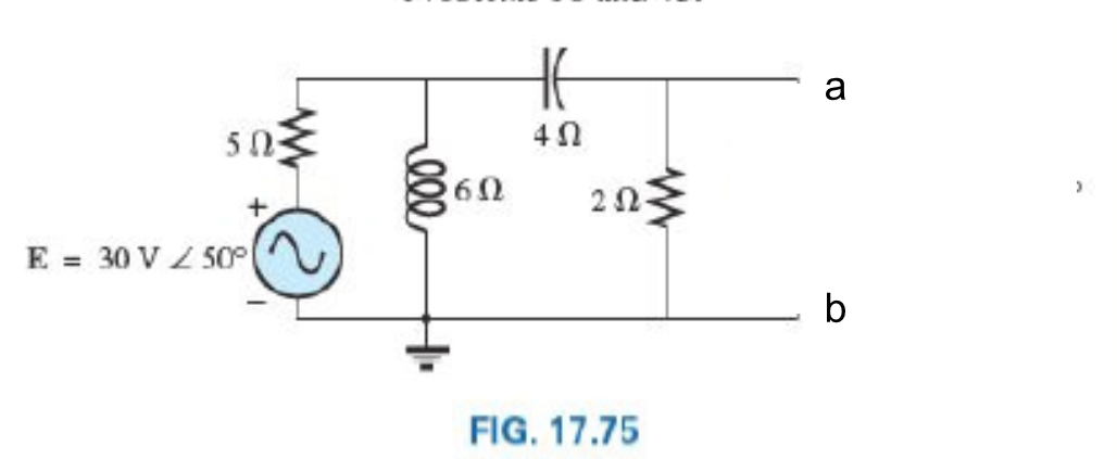 1. (a) For the circuit above find the physical par
