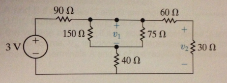 For the Circuit below, use equivalent resistance t