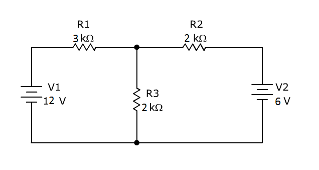 Solve the current flowing through each resistor an