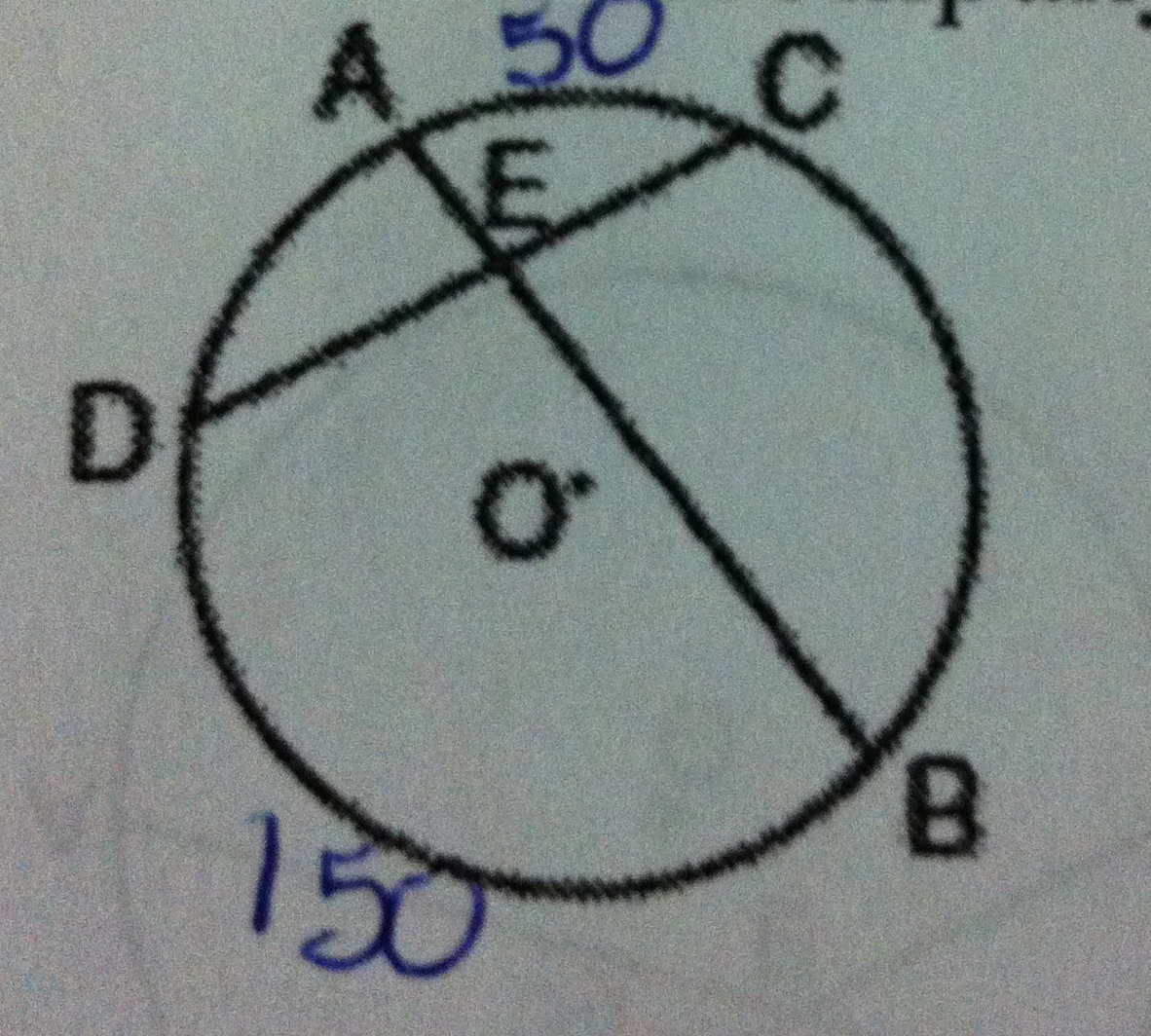 In The Accompanying Diagram Of Circle O