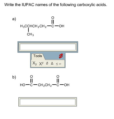 Write the IUPAC names of the following carboxylic