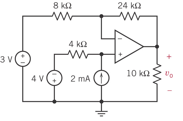 Determine v0 in the circuit below