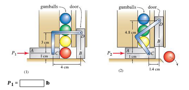 The mechanism for a gumball machine is shown in Fi