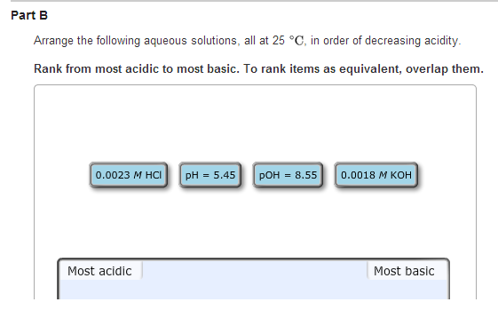 What is the H+ concentration for an aqueous soluti