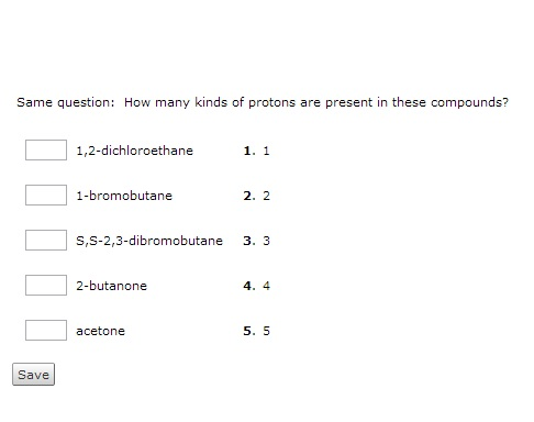 Same question: How many kinds of protons are prese