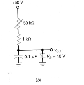 What is the peak output voltage in fig.b?