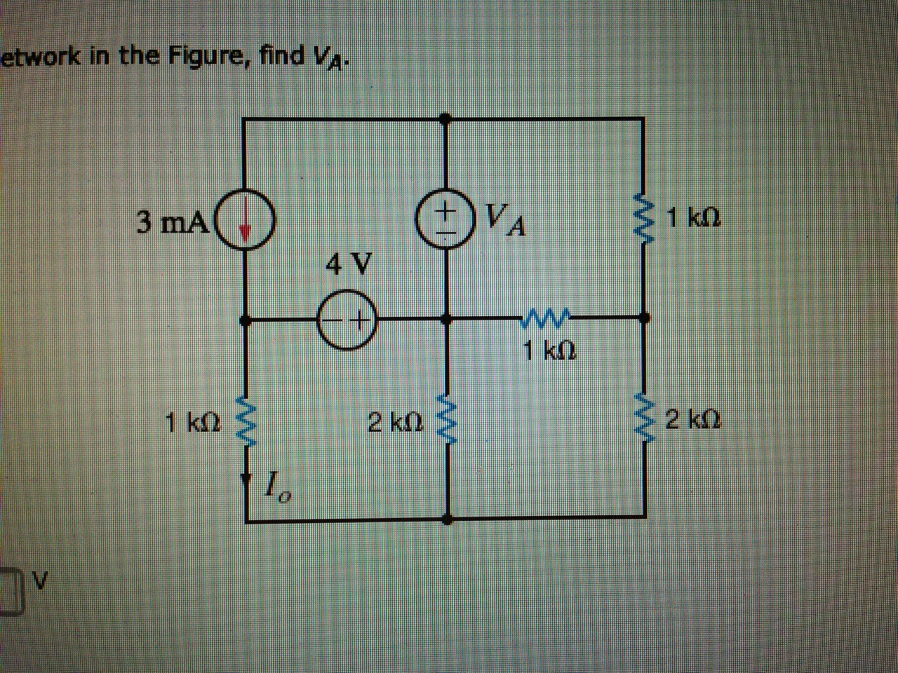 Network in the figure, find VA.