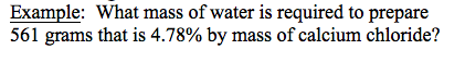 What mass of water is required to prepare 561 gram