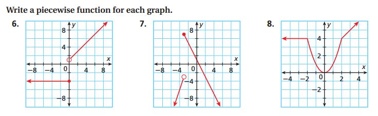 Piecewise Functions Examples