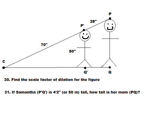 JUST ANSWER 31. The Scale Factor Is 7/5. I Just Ne... | Chegg.com