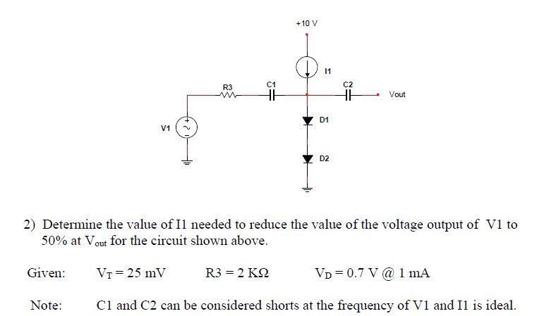 Determine the value of I1 needed to reduce the val