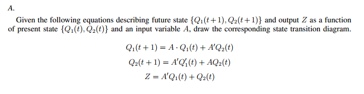 Given the following equations describing future st