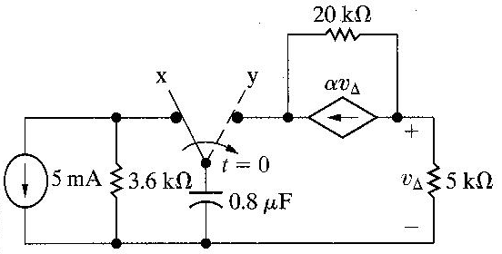 The switch in the circuit seen in Figure 2 has bee