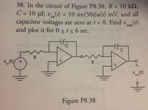 In the circuit of Figure P8.38, R = 10 k ohm, C= 1
