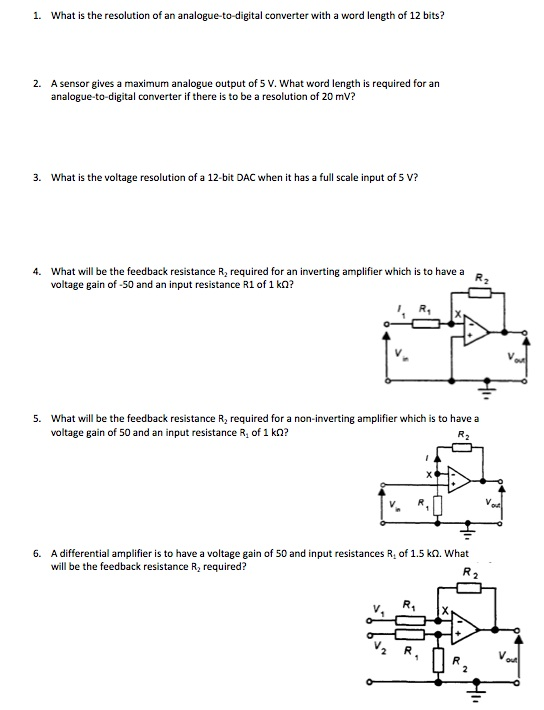 What is the resolution of an analogue-to-digital c