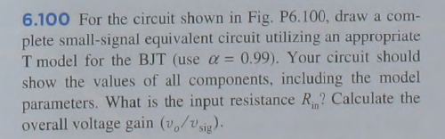 For the circuit shown in Fig. P6.100, draw a compl