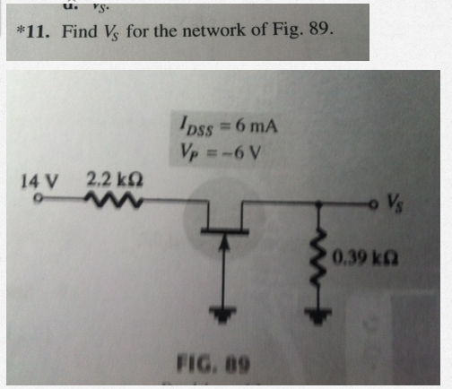 Find VS for the network of Fig. 89.