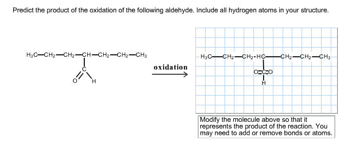 Predict the product of the oxidation of the follow