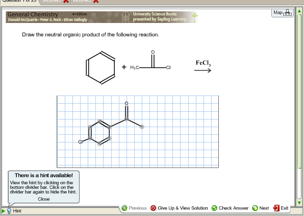 Draw the neutral organic product of the following