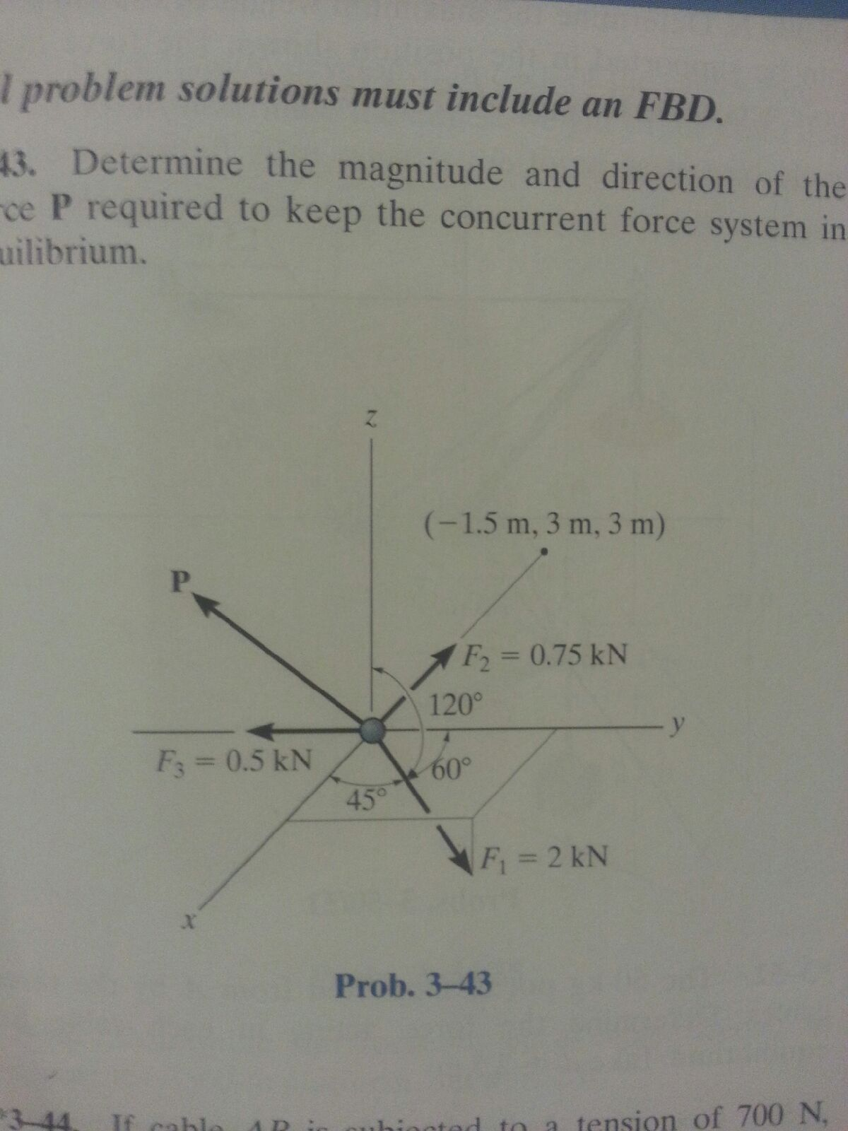 Determine the magnitude and direction of the P re