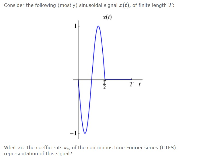 Consider the following (mostly) sinusoidal signal