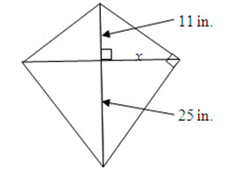 Maggie has a kite with the dimensions shown below.