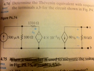 Determine the Thevenin equivalent with respect to