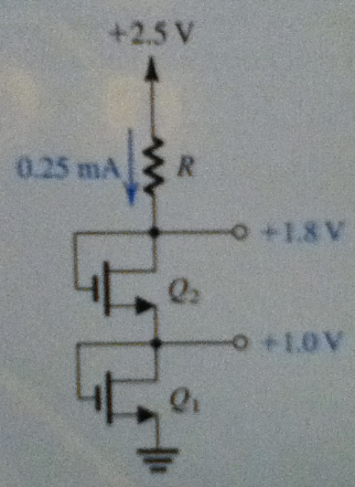 The NMOS transistors in the circuit of Fig. P5.50