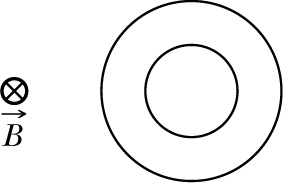 The figure here shows the circular paths of two pa