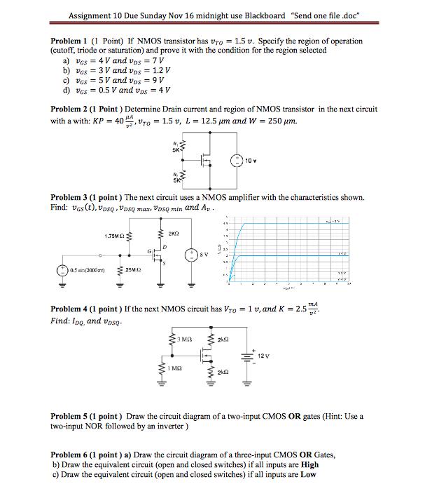 solved  assignment 10 due sunday nov 16 midnight use black
