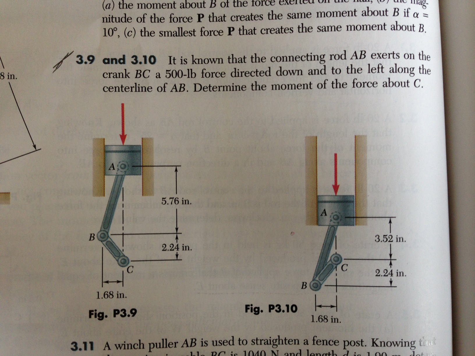 it is known that the connecting rod AB exerts on t