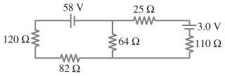 Calculate the currents in each resistor of the fig