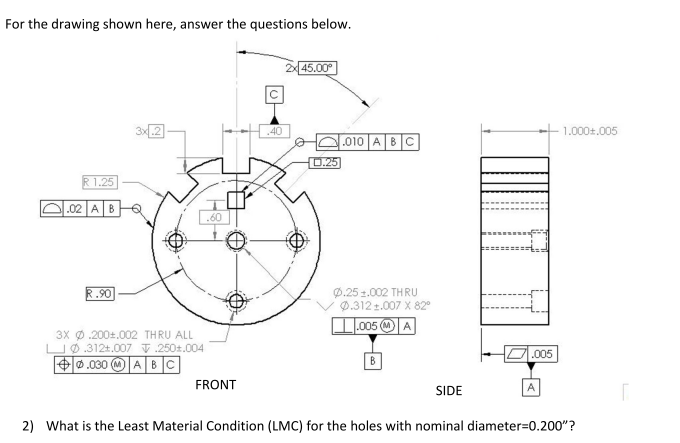 Geometric Dimensioning And Tolerancing - Even If Q...   Chegg.com