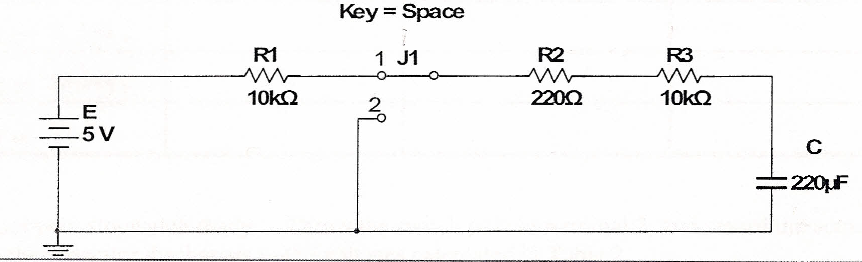 The following circuit was given and two tasks were
