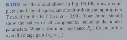 For the circuit shown in Fig. P6.100. draw a compl