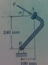 A force p is applied to the brake pedal at A. Know