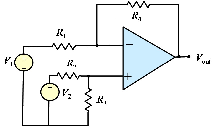 Find the voltage Vout in the circuit below where R