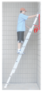 A ladder of mass 39.8 kg and length 3.04 m is lean