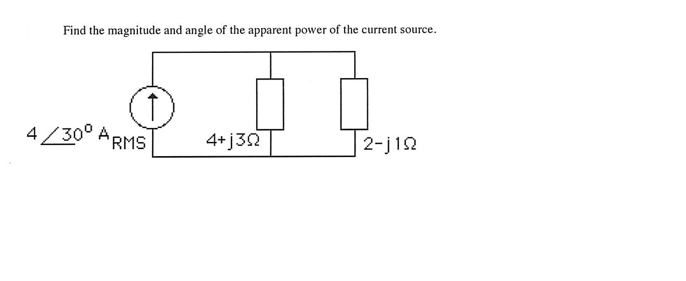 Find the magnitude and angle of the apparent power